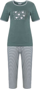 20211-136-3 Pastunette dames Pyjama met 3/4 broek