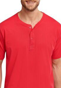 163831 Schiesser heren T-Shirt met Knoopjes