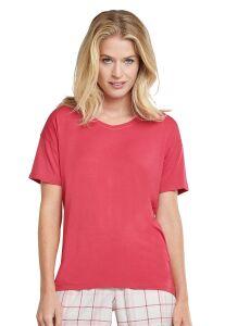 165664 Schiesser dames T-Shirt met V-Hals en korte Mouw